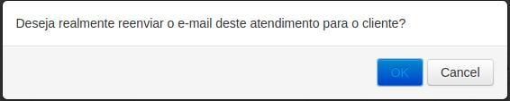 Como reenviar a notificação por e-mail de um atendimento?