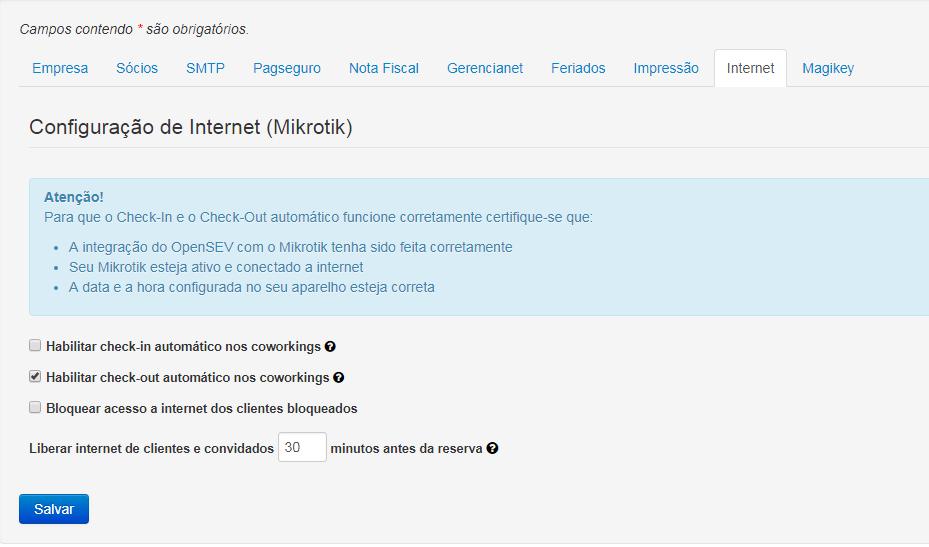 Configurações de Internet na Empresa.